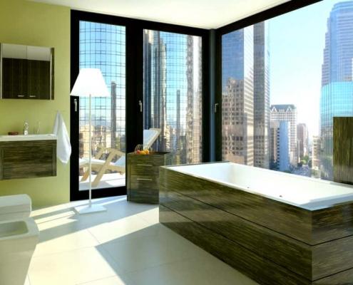 Green downtown bath