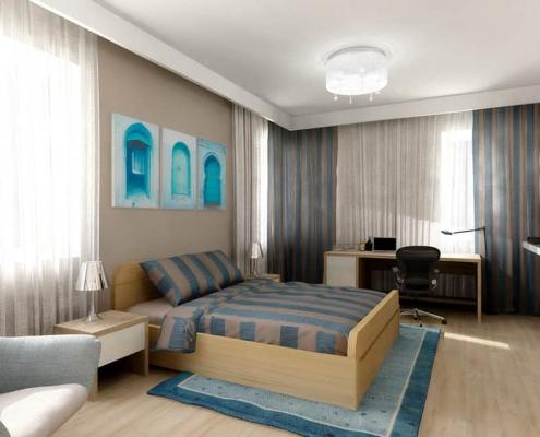 Blue Amazing Bedroom