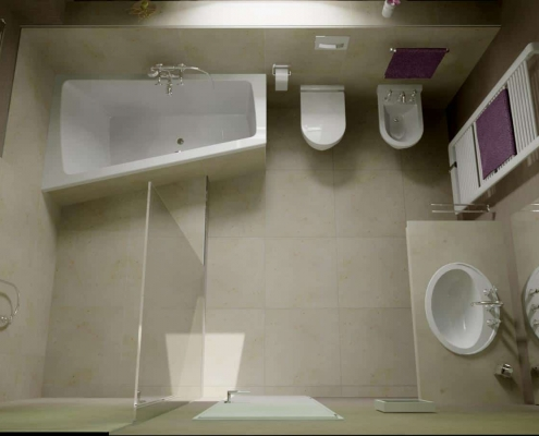 Bathroom under the roof